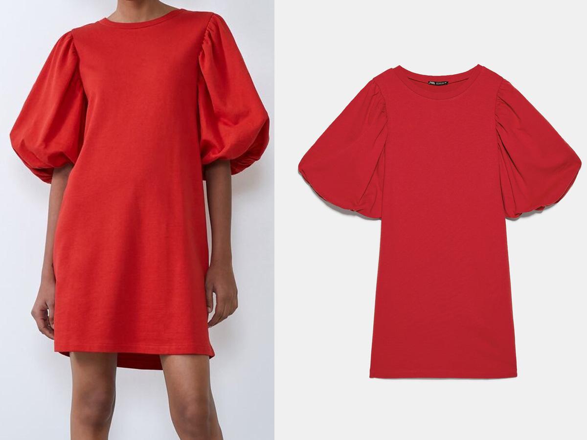 zara czerwona sukienka 2019