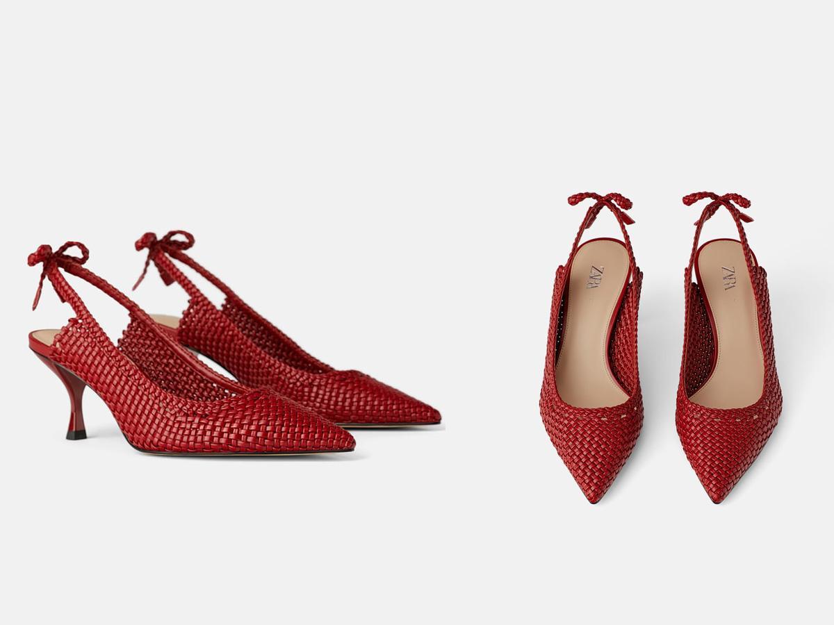 czerwone czółenka Zara