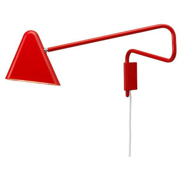 Czerwona lampa ścienna LED, Ikea 199 zł