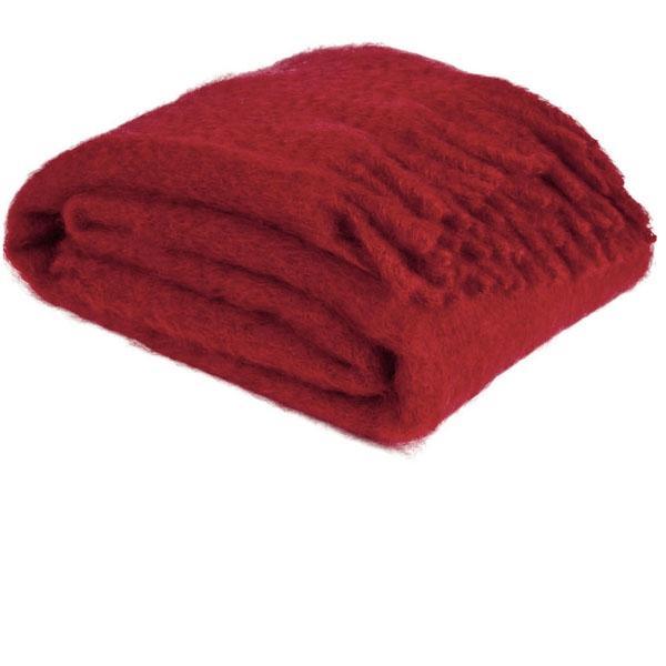 Czerwony koc z moheru, Zara Home 499 zł