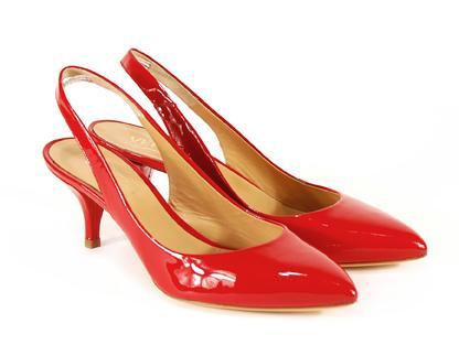 czerwone pantofle Venezia - z kolekcji wiosna-lato 2011