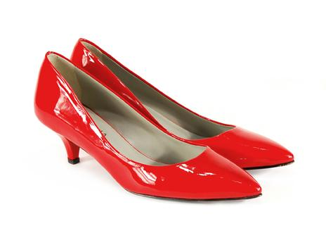 czerwone pantofle Venezia - moda 2011