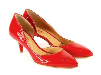 czerwone pantofle Venezia - sezon wiosenno-letni
