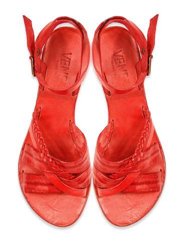 czerwone sandały Venezia - sezon wiosenno-letni