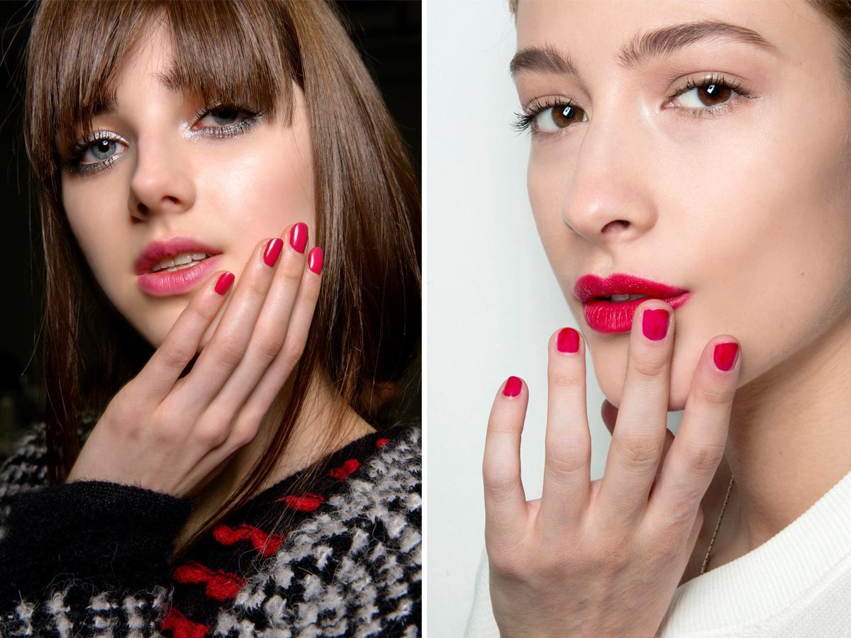 Czerwone paznokcie chłodne odcienie