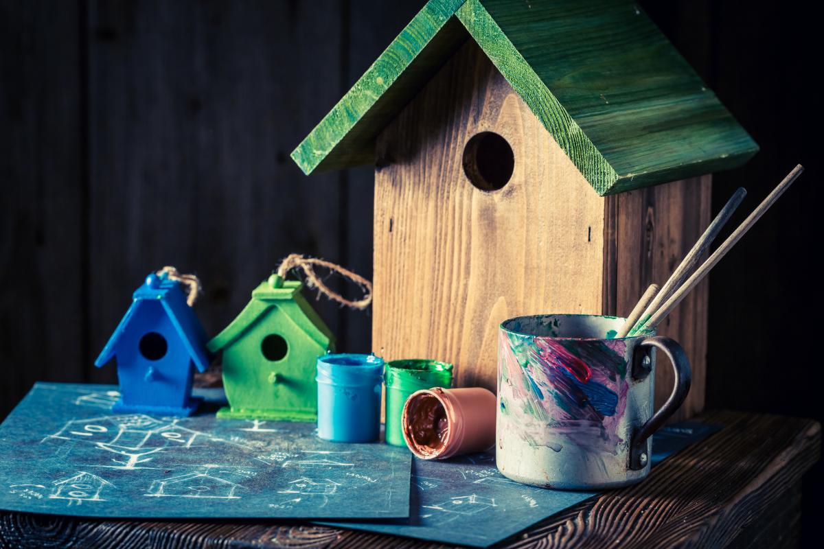 czym pomalować karmnik dla ptaków