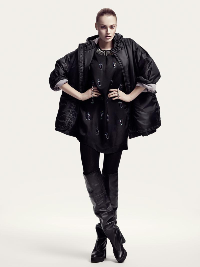 czarna kurtka H&M pikowana - kolekcja zimowa