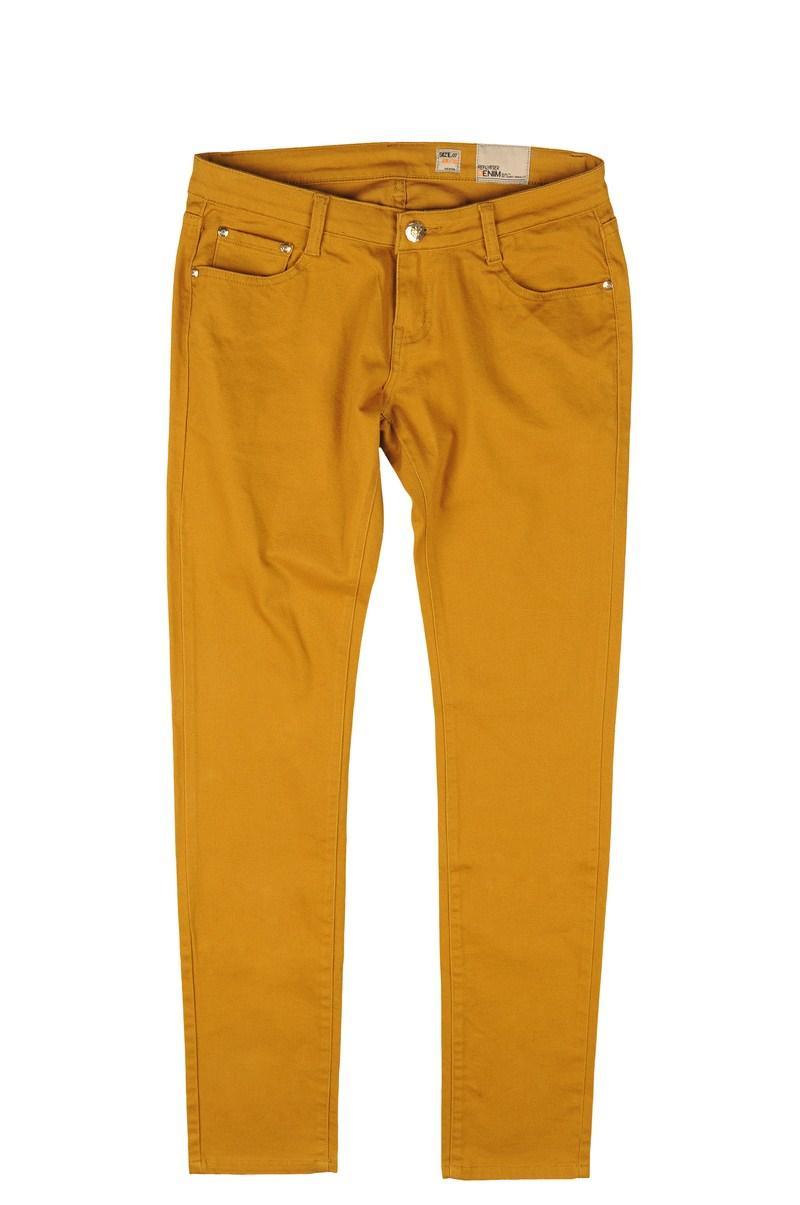 musztardowe spodnie Reporter - kolekcja wiosenno/letnia