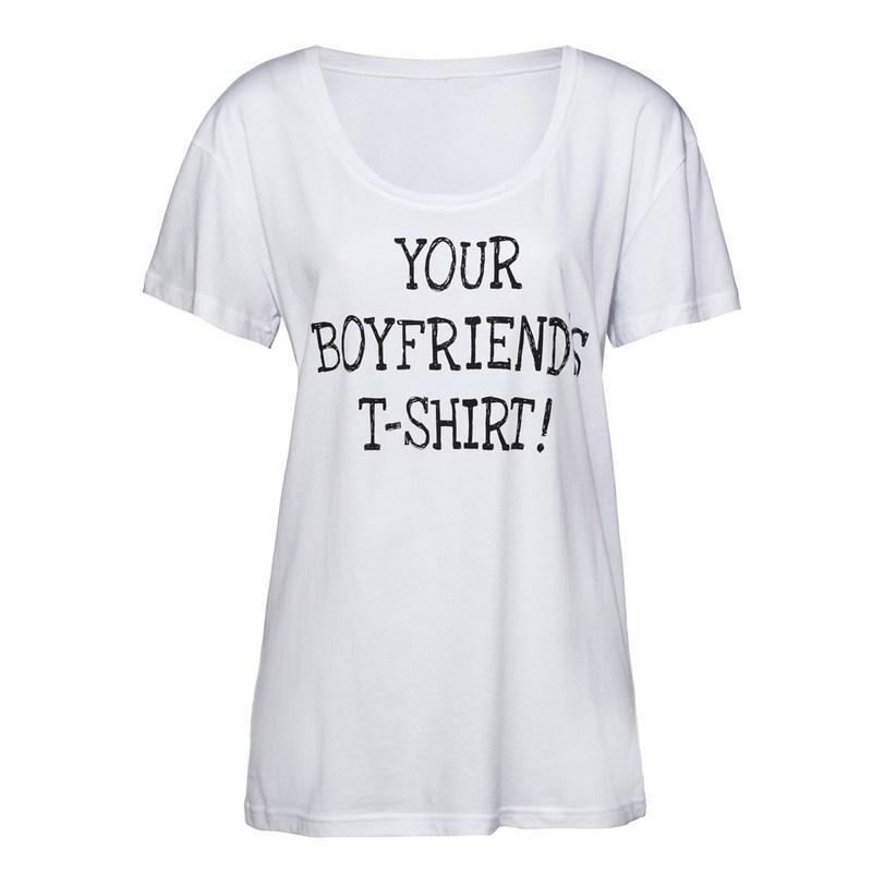c00a3f9ae5bfd4 biały t-shirt New Yorker z napisami - kolekcja na lato - Damskie t ...