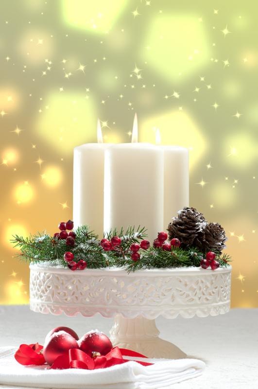 Świąteczne świeczki z ozdobami