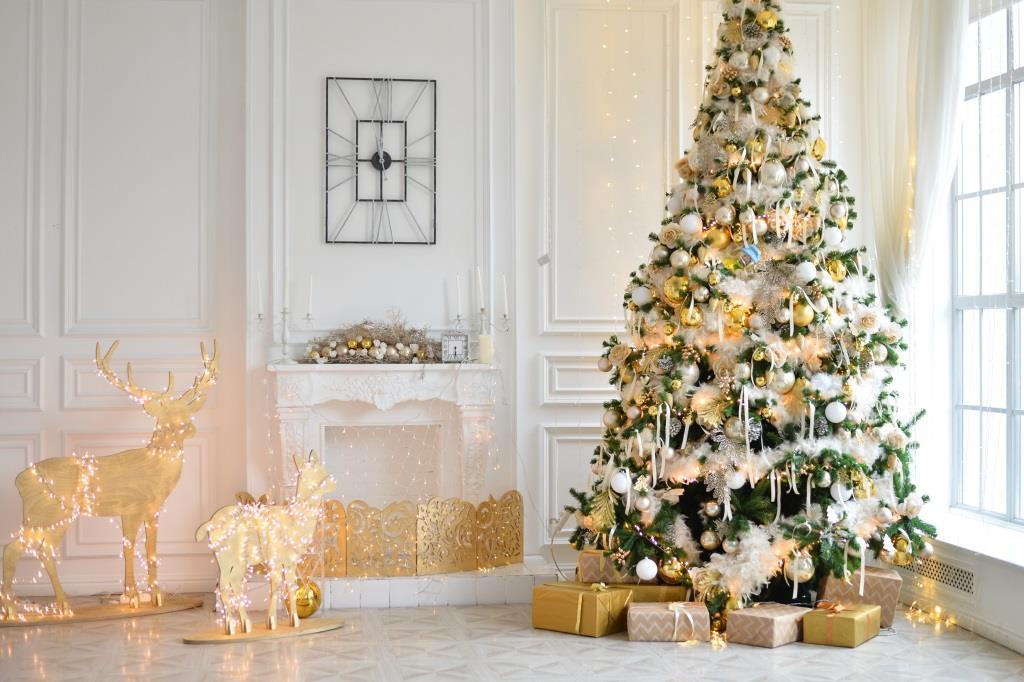 Dekoracje świąteczne w stylu glamour