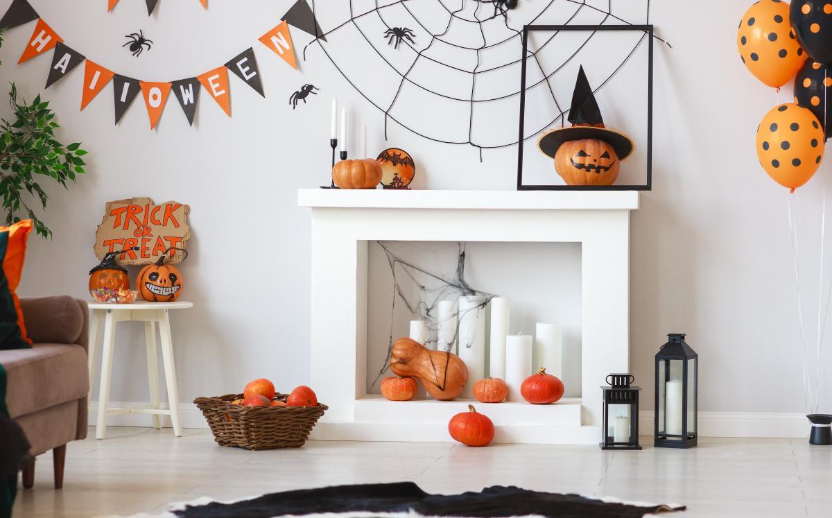dekoracje z dyni na Halloween