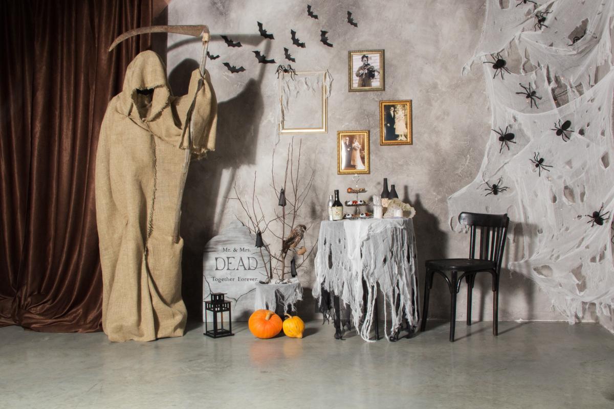 dekoracje z tkanin na Halloween