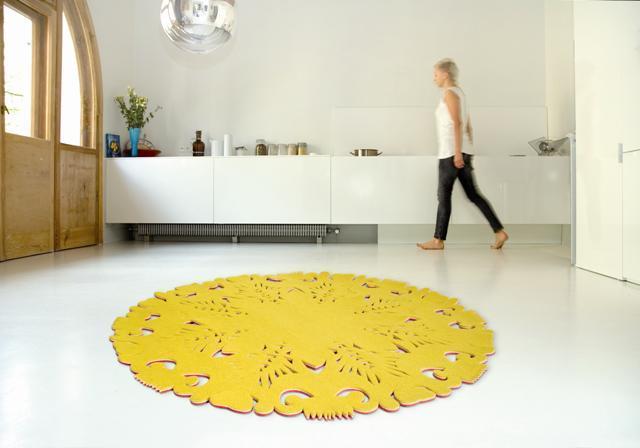 żółty dywan Moho Design