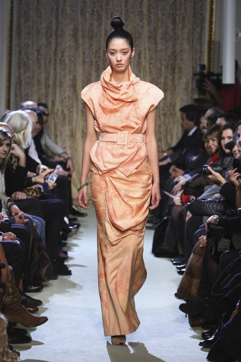 pomarańczowa sukienka wieczorowa Didit Hediprasetyo - wiosna/lato 2011