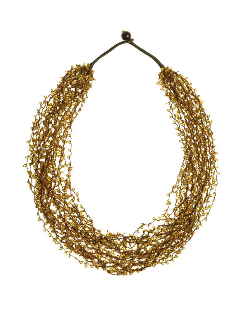 złoty naszyjnik Tatuum - z kolekcji wiosna-lato 2011