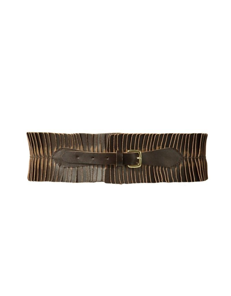 brązowy pasek ZARA - wiosenna kolekcja