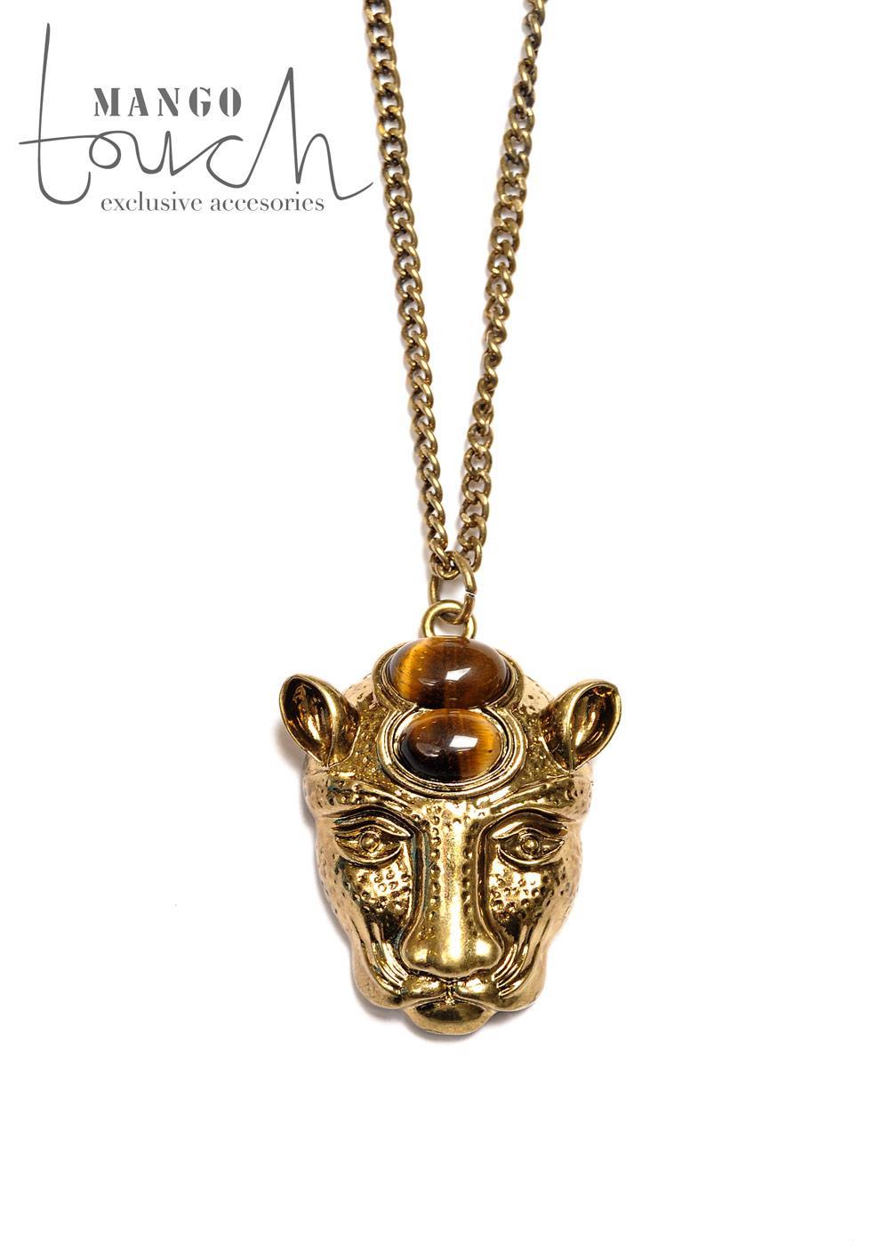 złoty lew naszyjnik Mango - wiosna/lato 2011