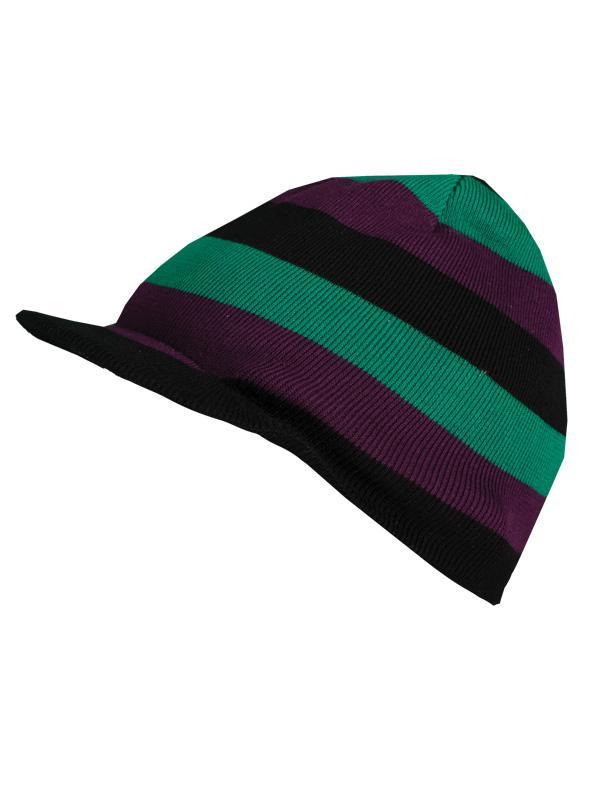 czapka z daszkiem Troll w paski - moda 2011/2012