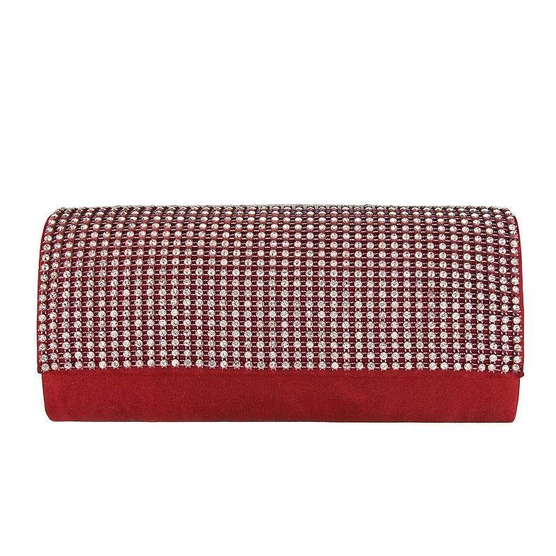 czerwona kopertówka Pretty Girl - trendy zimowe