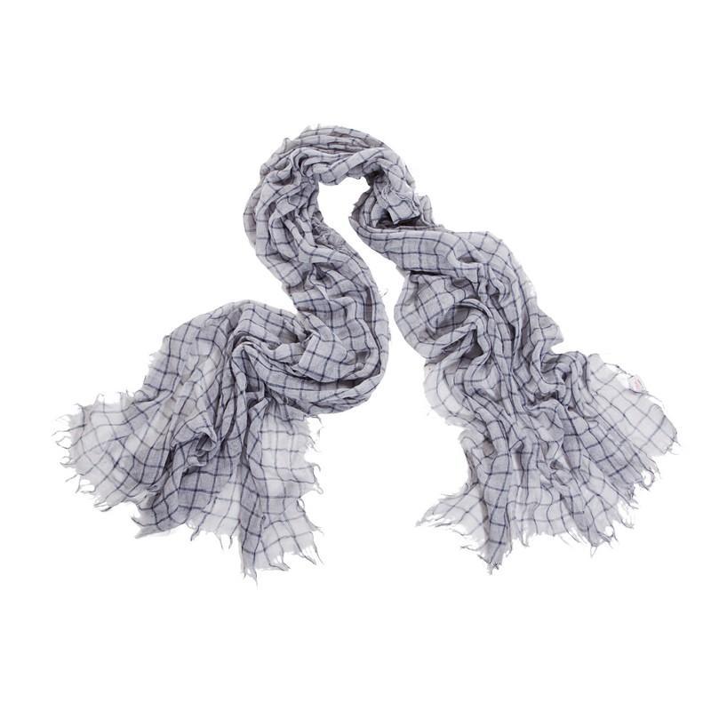 szary szalik s.Oliver w kratkę - kolekcja jesienno-zimowa