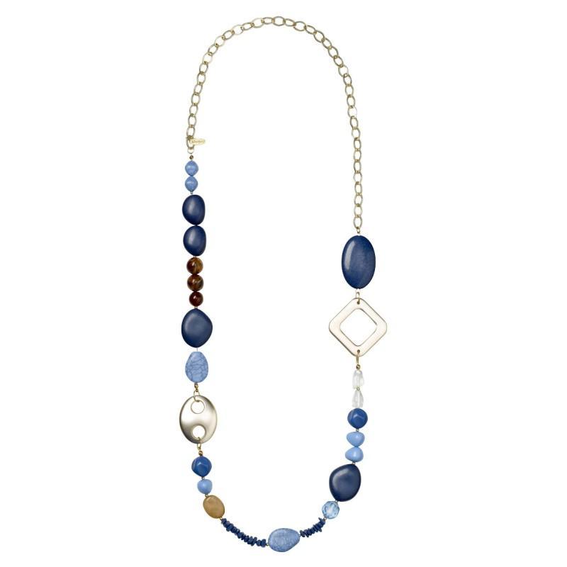 niebieski naszyjnik Jackpot - z kolekcji wiosna-lato 2011