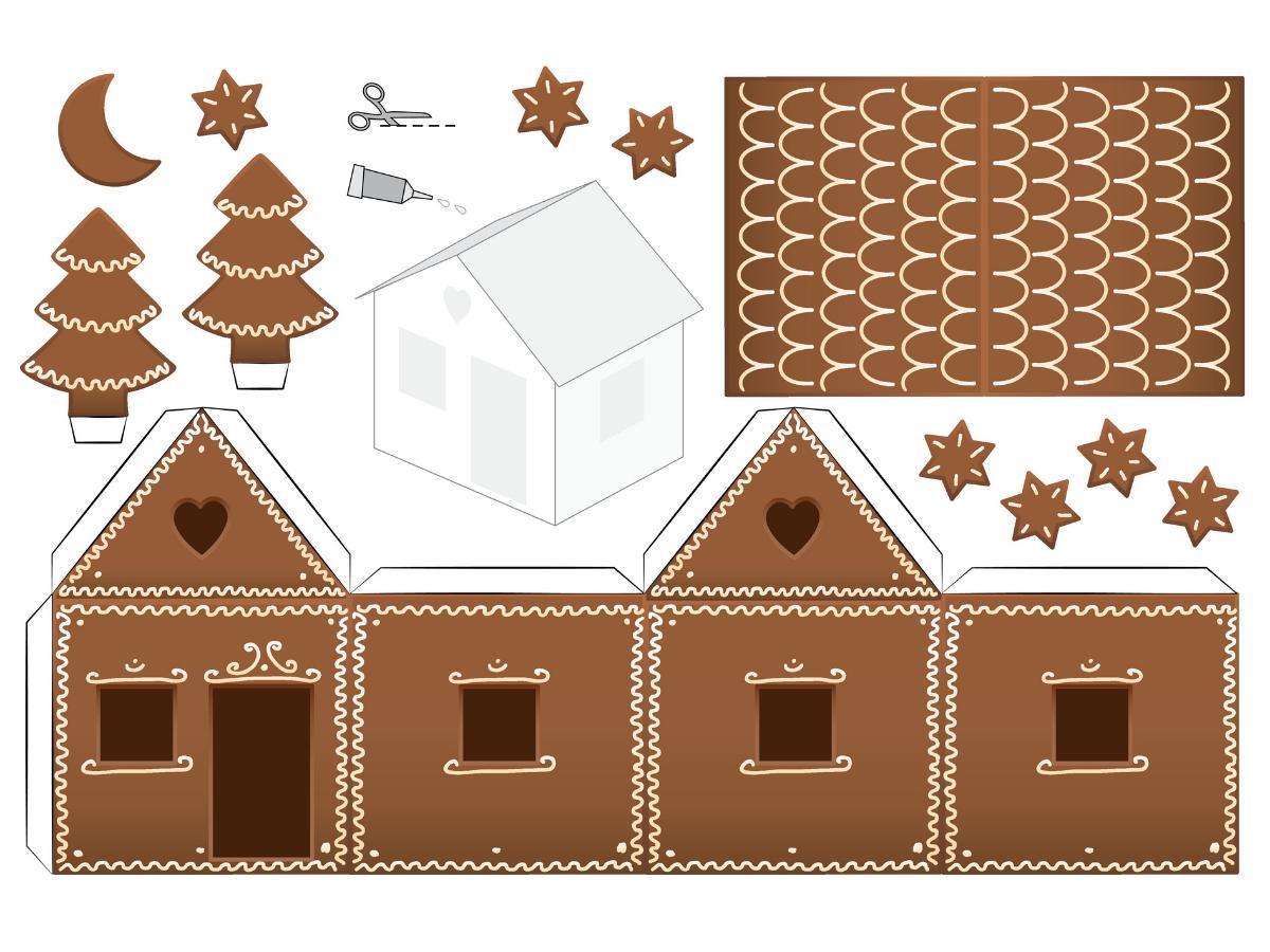 Domek z piernika - szablon