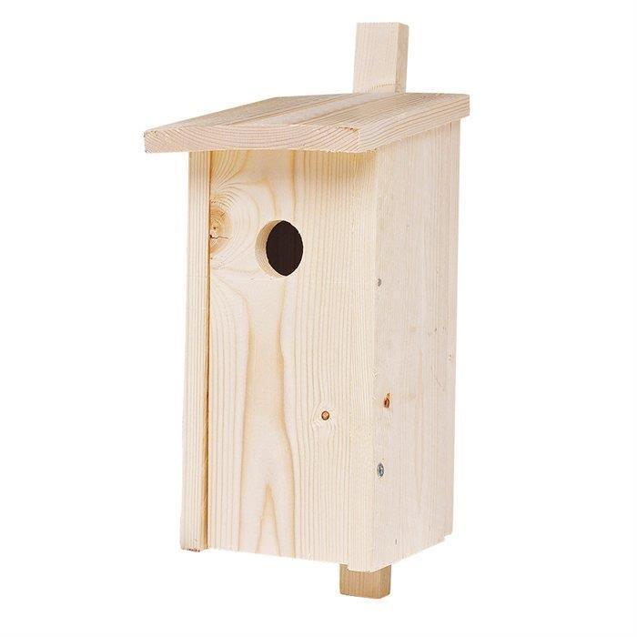 Pomysłowy drewniany domek dla ptaków -jesienne pomysły do ogrodu