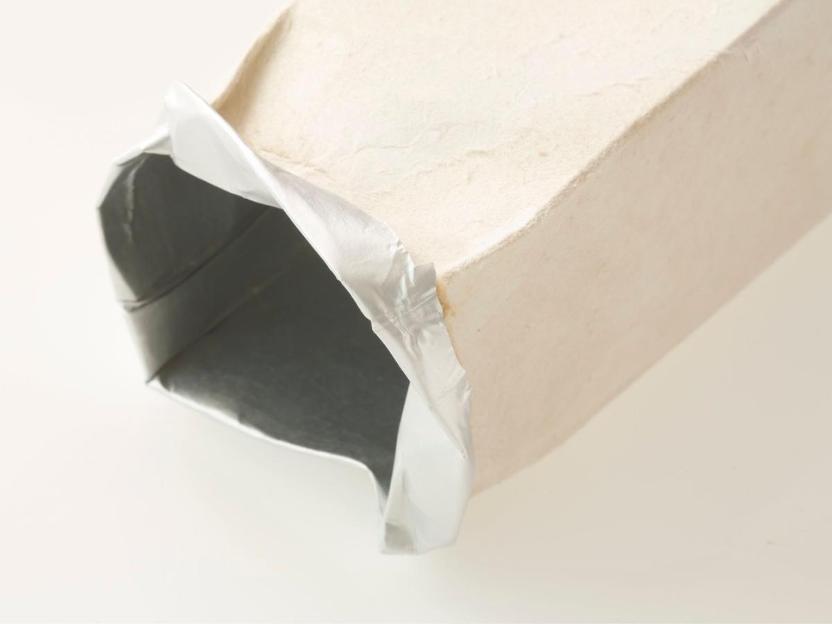 Doniczka z kartonu po napoju DIY - krok 3
