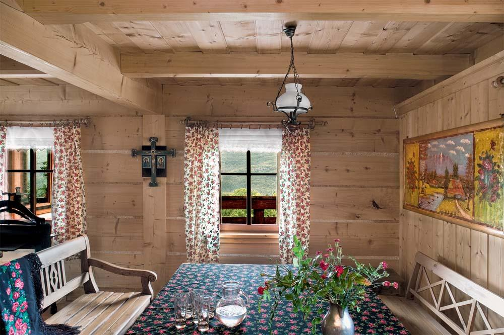 Inne rodzaje Wnętrze domu w górach - Drewniany domek w górach - Aranżacje PG92