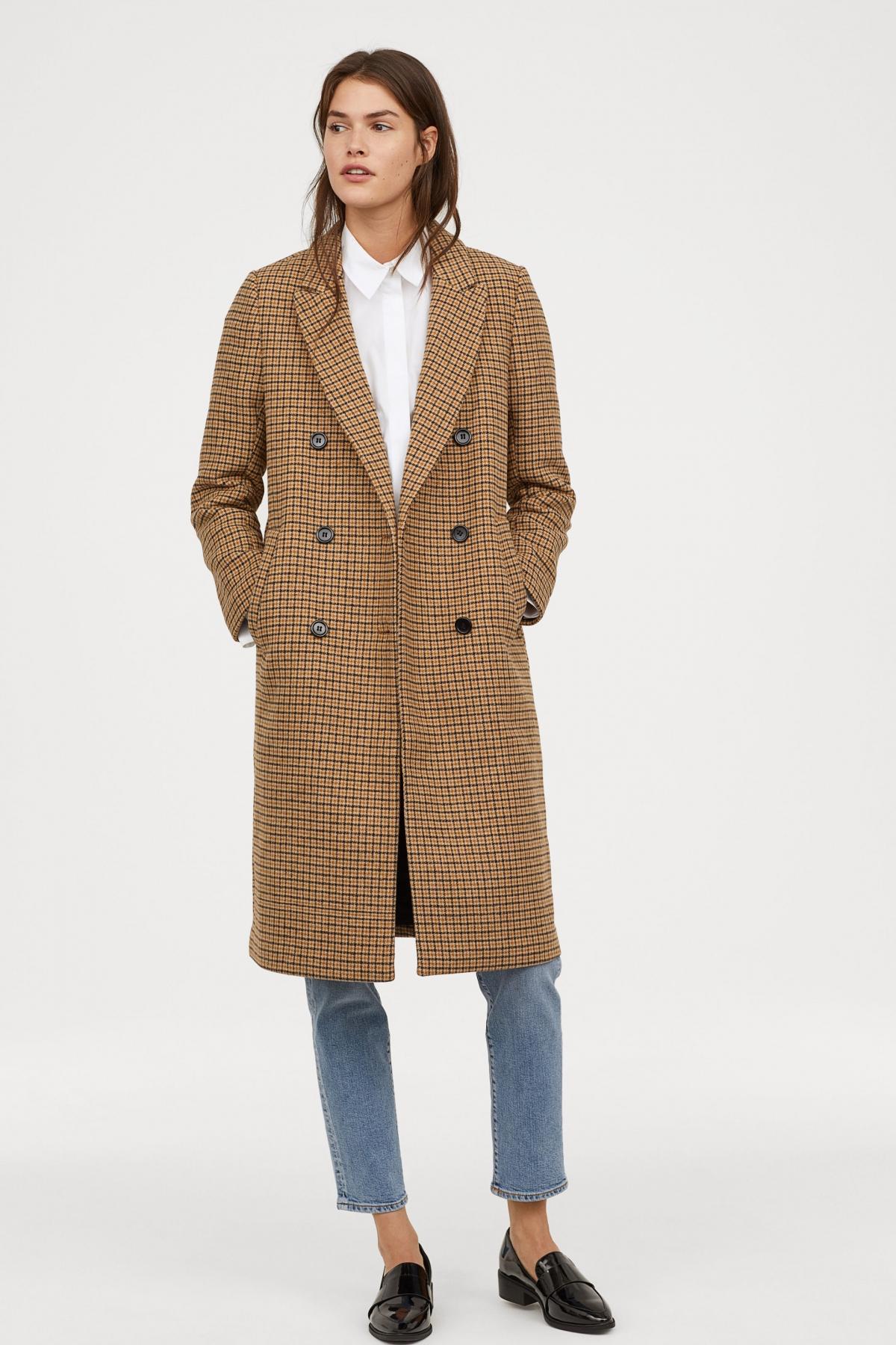 Dwurzędowy płaszcz H&M