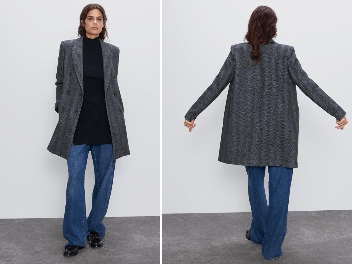 Dwurzędowy płaszcz Zara