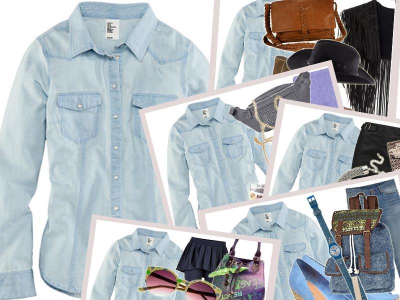 f6d3d326195d9 Stylizacje Z Dżinsową Koszulą Jak Nosić Dżinsową Koszulę Trendy