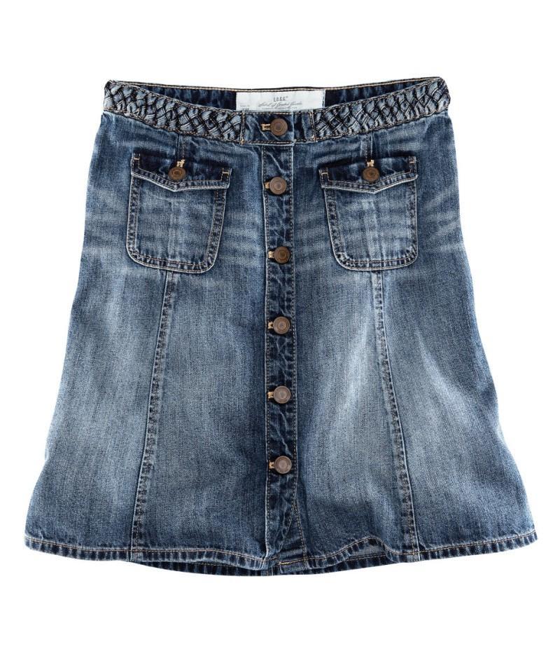 e50a370e niebieska spódnica H&M dżinsowa - kolekcja wiosenno/letnia ...