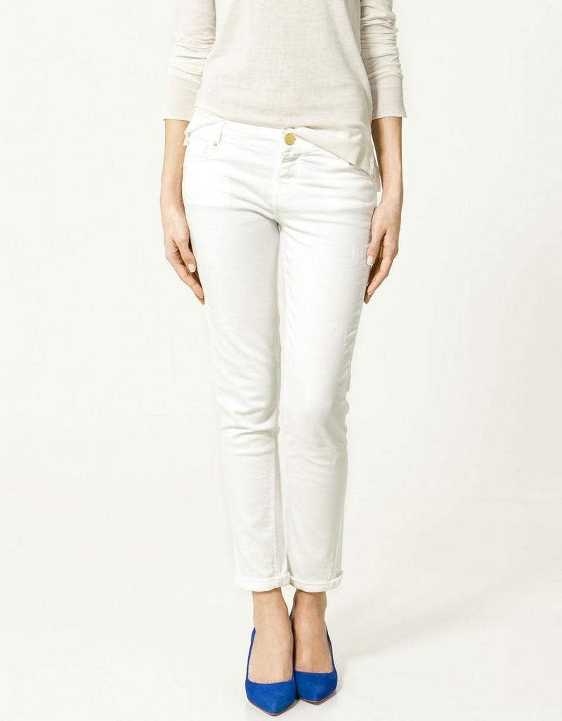 białe dżinsy ZARA - kolekcja wiosenno/letnia