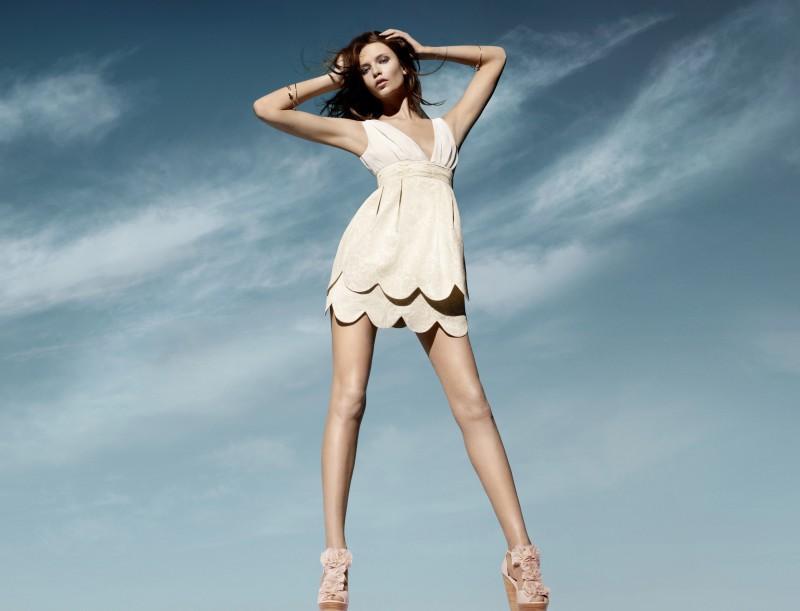 ecru sukienka H&M - moda 2011