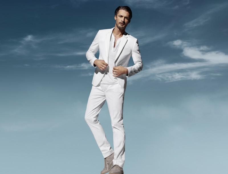 biały garnitur H&M - wiosna/lato 2011
