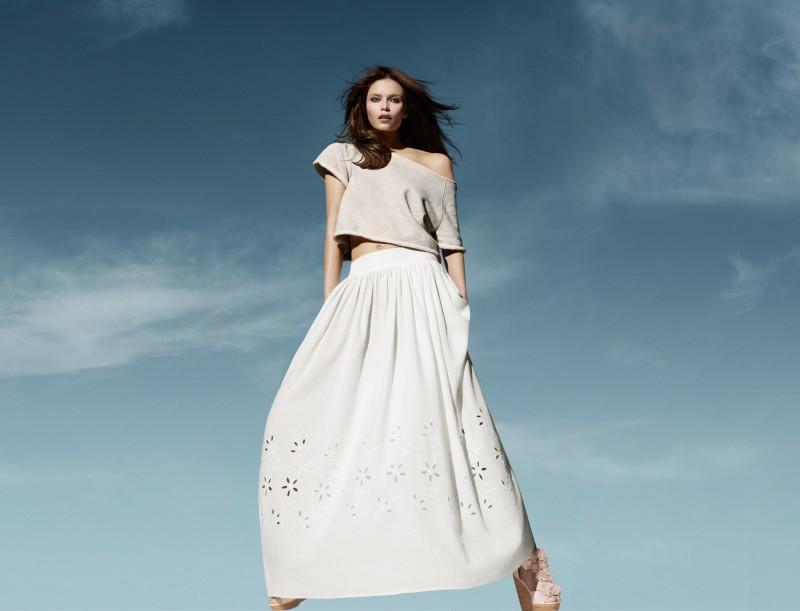biała spódnica H&M - lato 2011