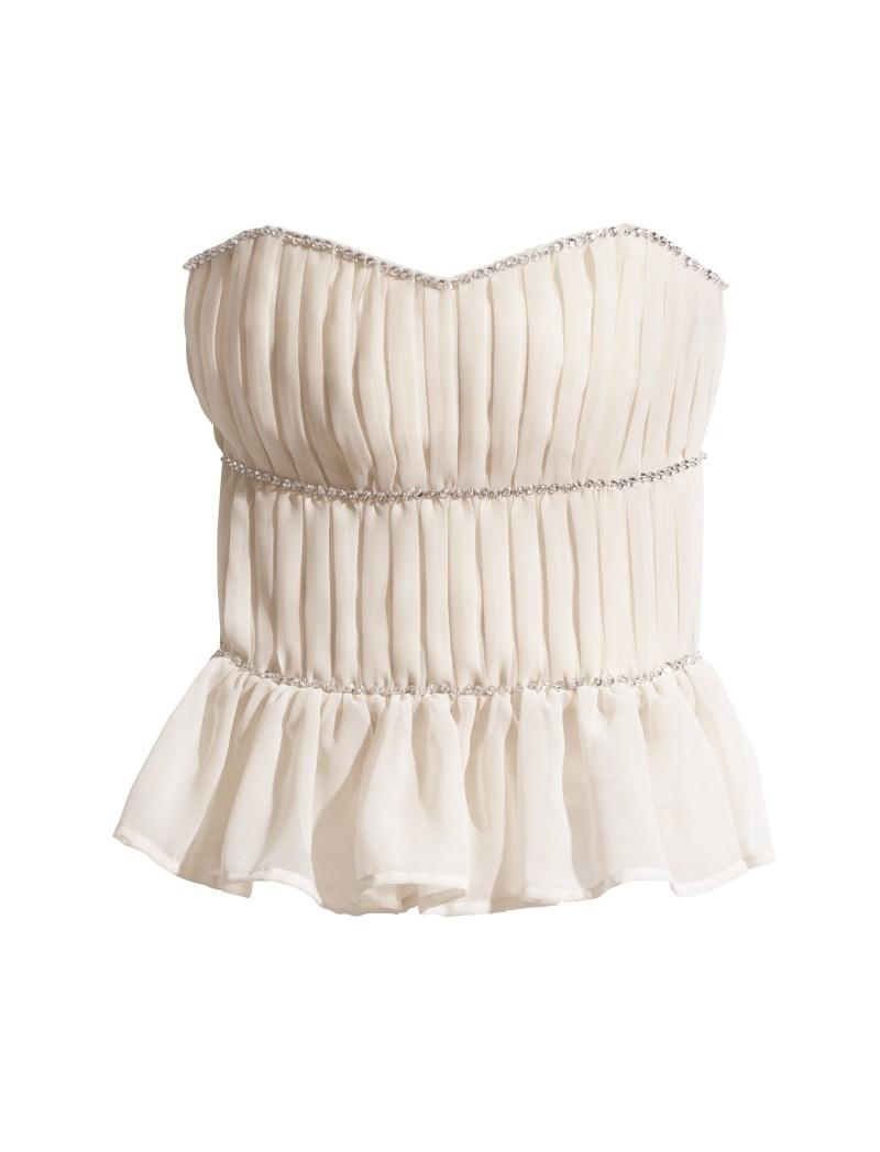biała bluzka H&M - lato 2011