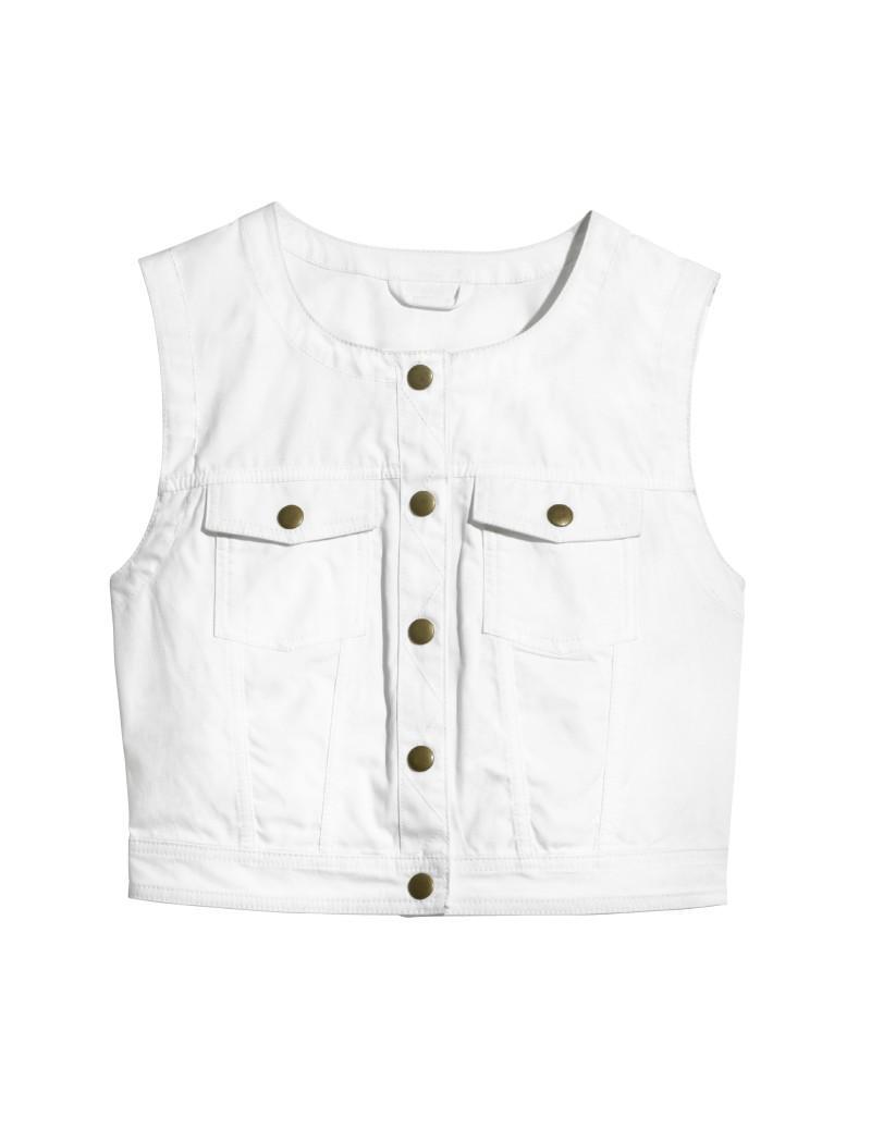 biała kamizelka H&M - wiosna/lato 2011