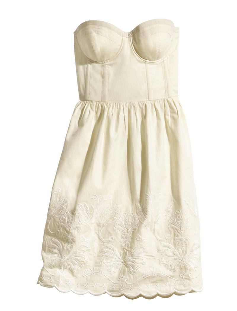 biała sukienka H&M - lato 2011