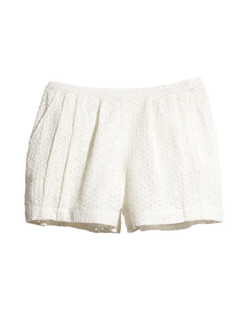 białe szorty H&M - letnia kolekcja