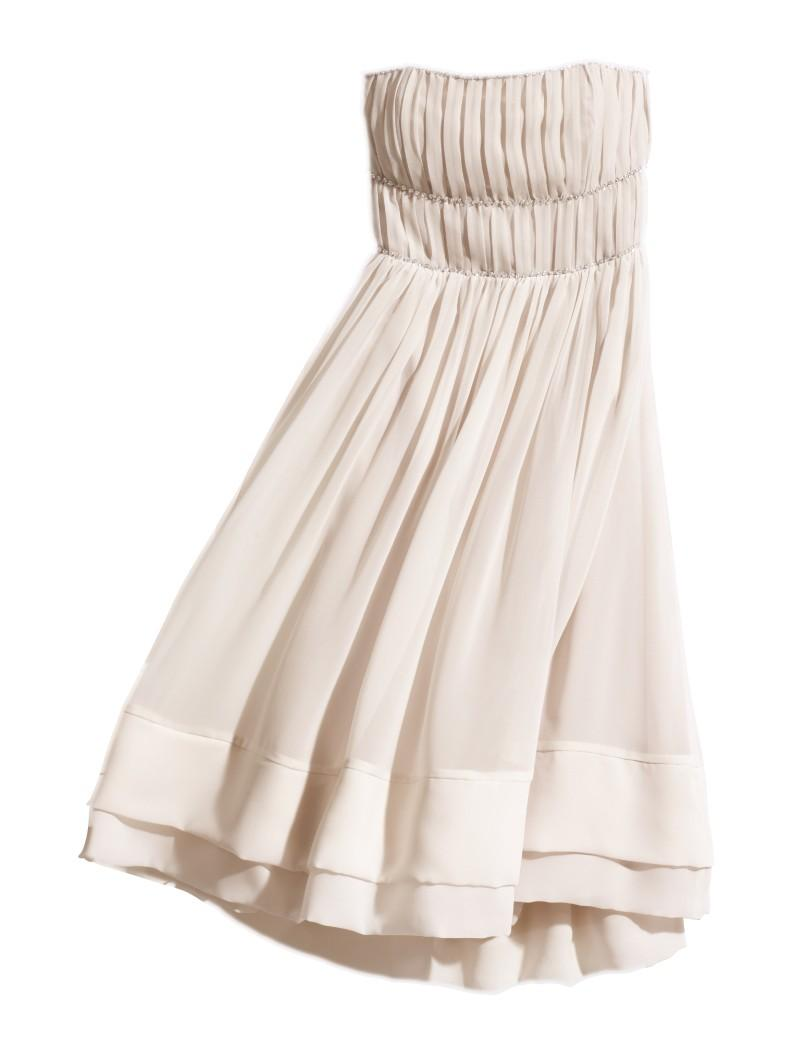 biała sukienka H&M - wiosna/lato 2011