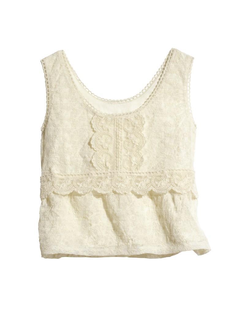 biała bluzka H&M - wiosna/lato 2011