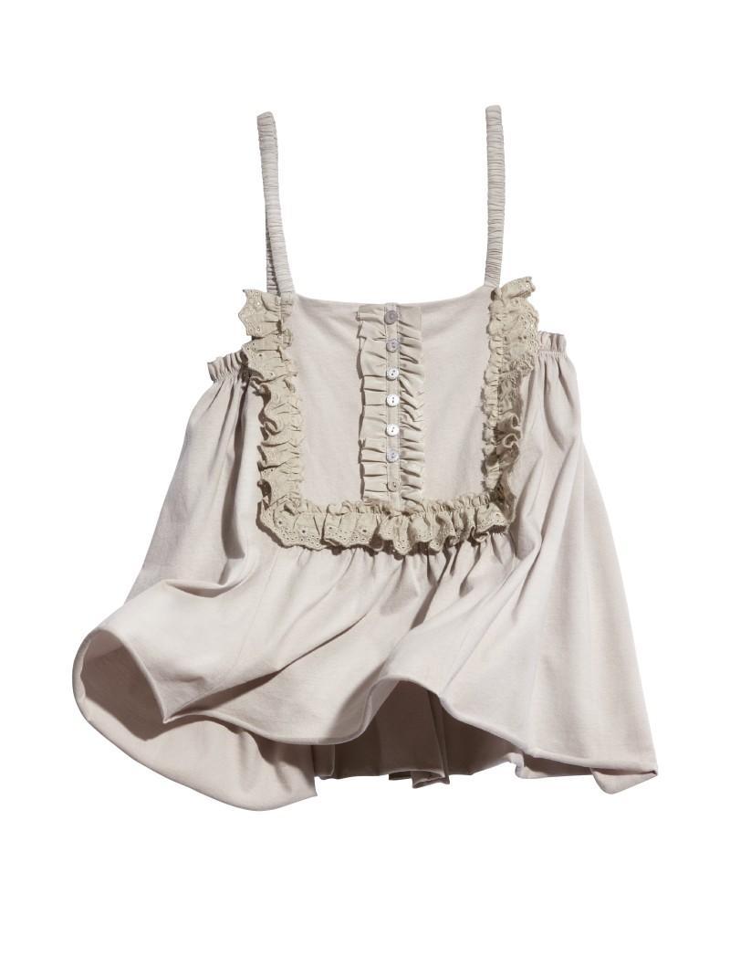 szara bluzka H&M na ramiączkach - letnia kolekcja