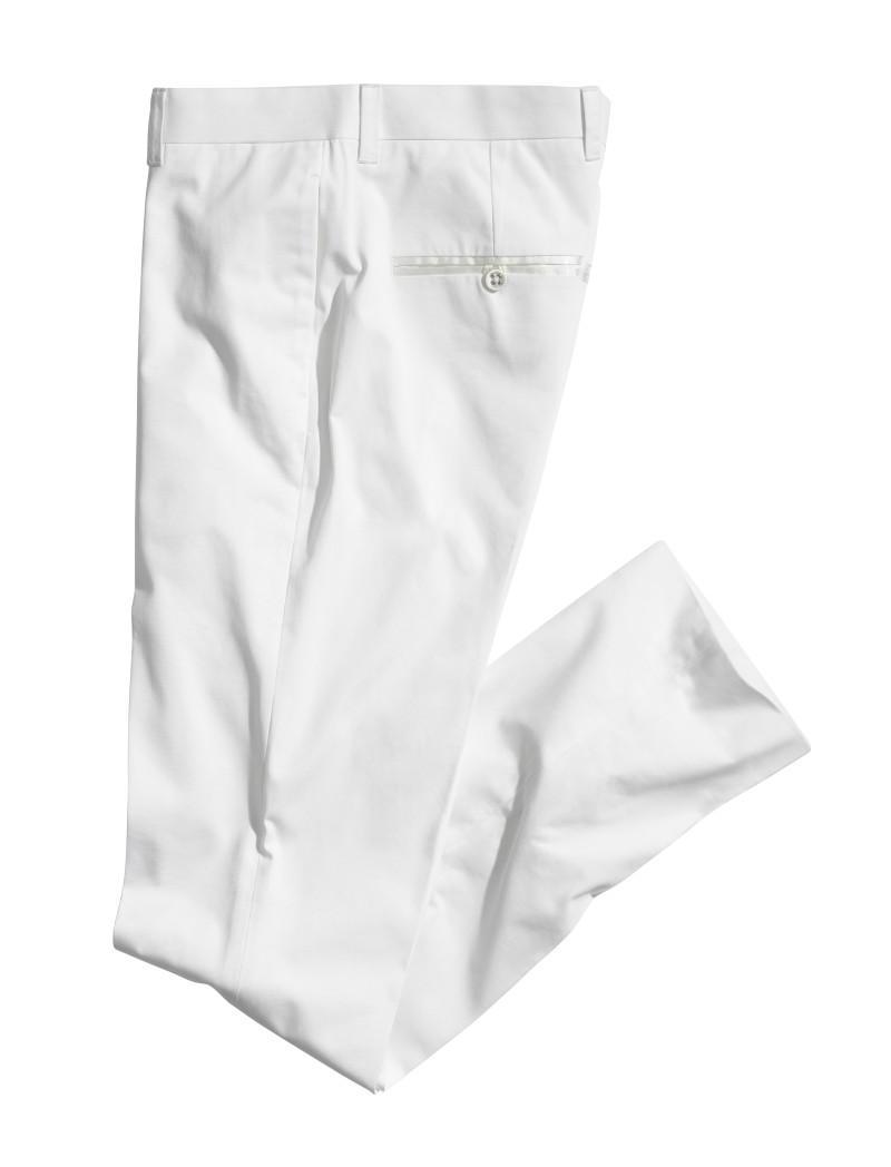 białe spodnie H&M - wiosna-lato 2011