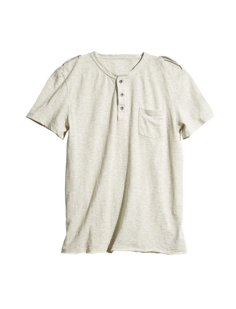biały t-shirt H&M - wiosna 2011