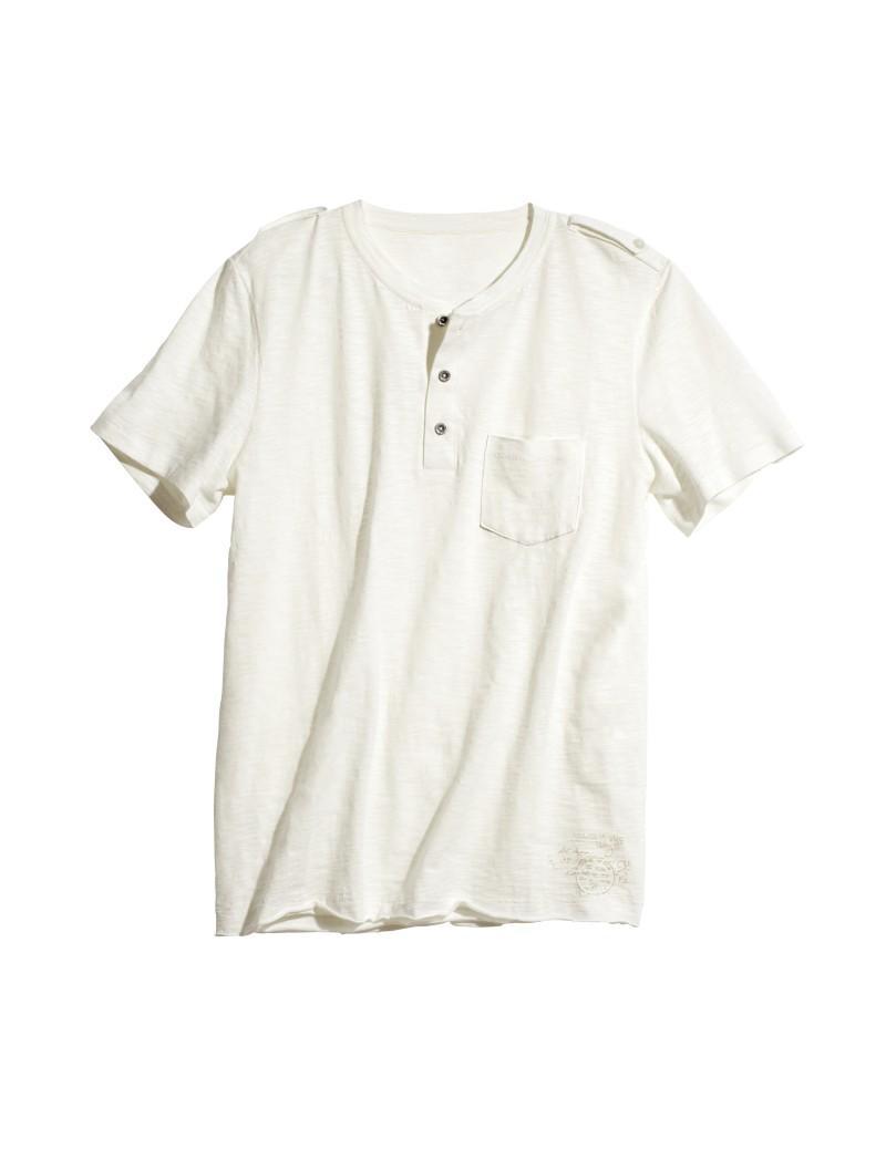biały t-shirt H&M - wiosna-lato 2011