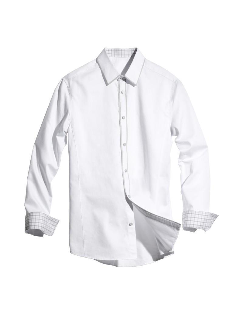 biała koszula H&M - wiosna 2011