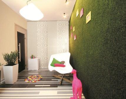 Wyrazista farba kryjąca mocna zieleń - modne wnętrze